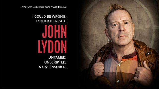 John Lydon – I Could Be Wrong, I Could Be Right Q&A Tour